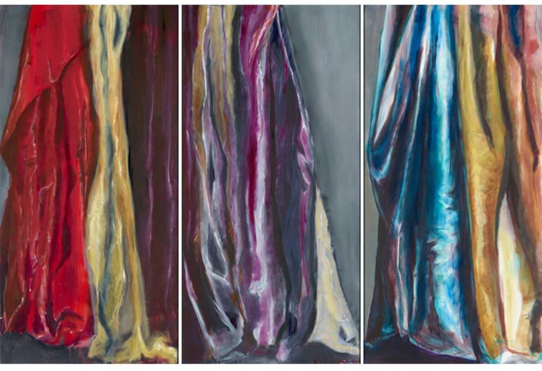 Veiling/Revealing (triptych) | 7' x 4' each Oil on canvas